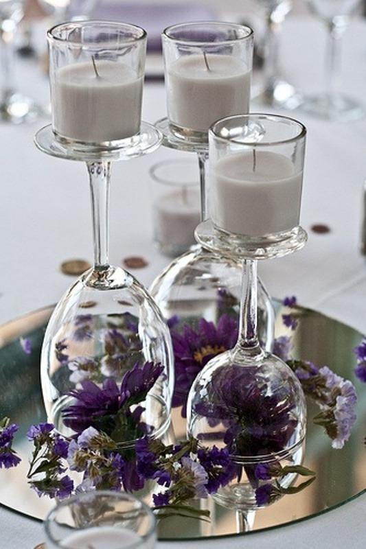 Wedding Decor Glamorous Dark Purple